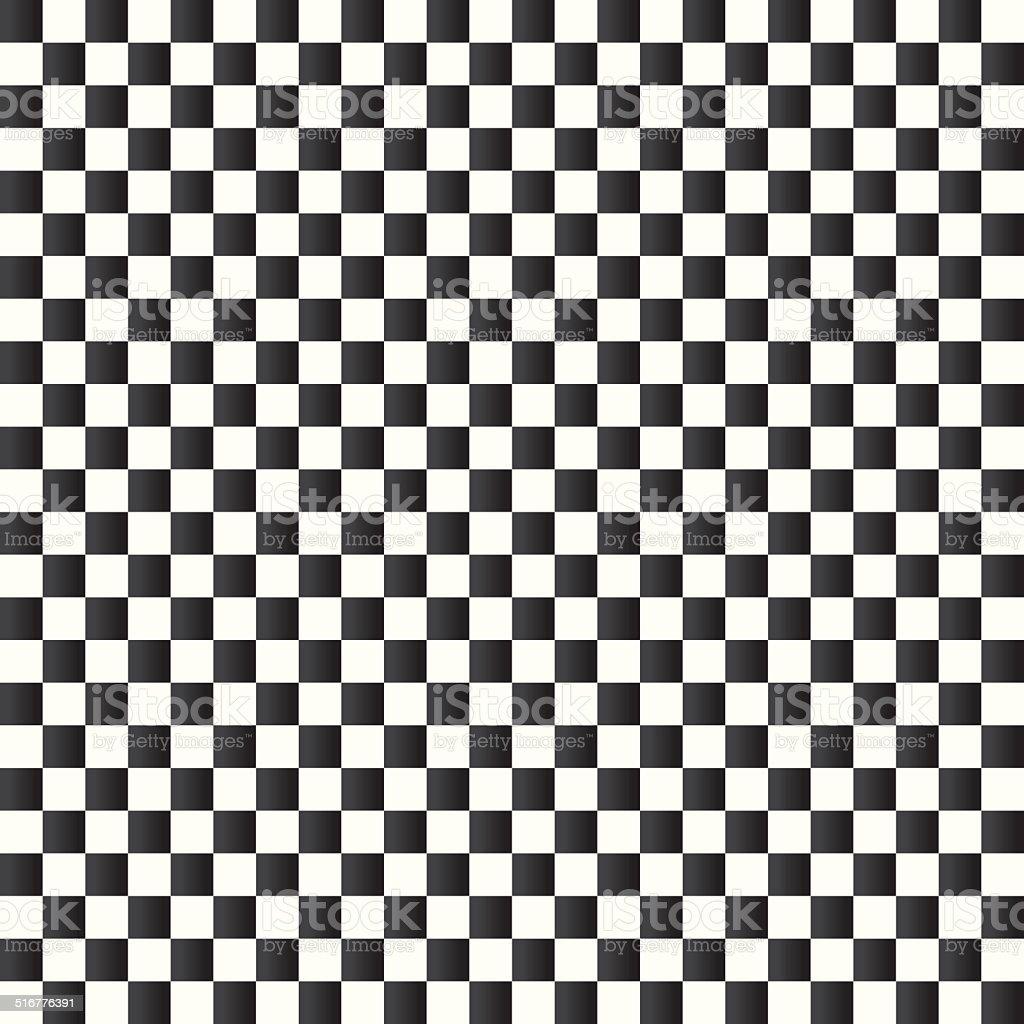Checkered flag background. Seamless chessboard. vector art illustration