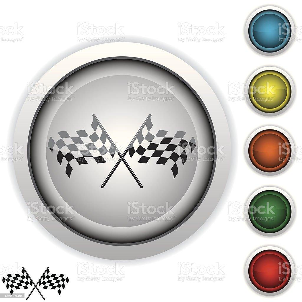 checkered flag icon royalty-free stock vector art