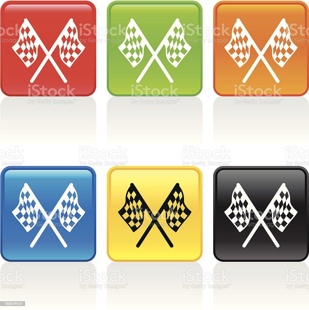 Checkered Flag Icon vector art illustration