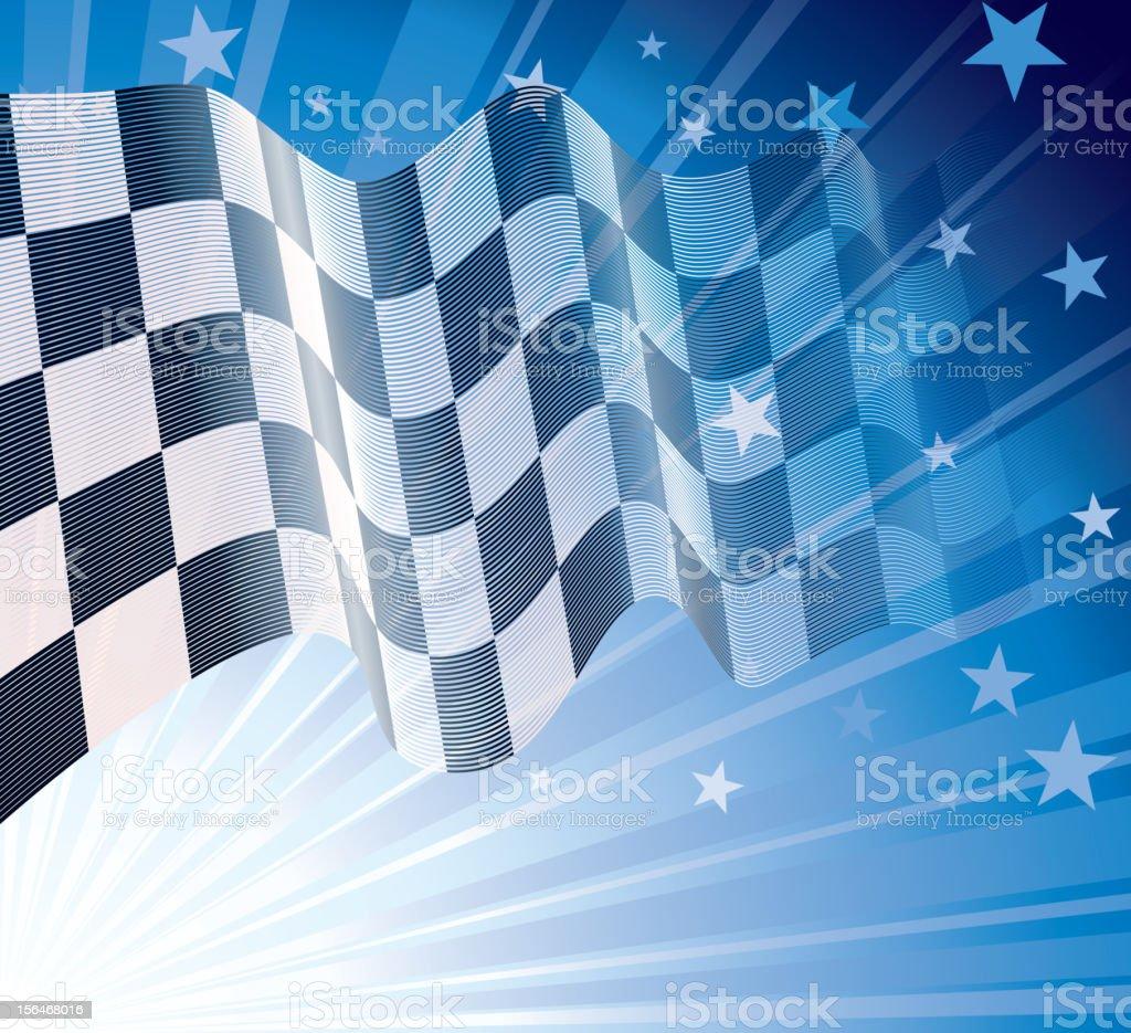 Checkered flag royalty-free stock vector art