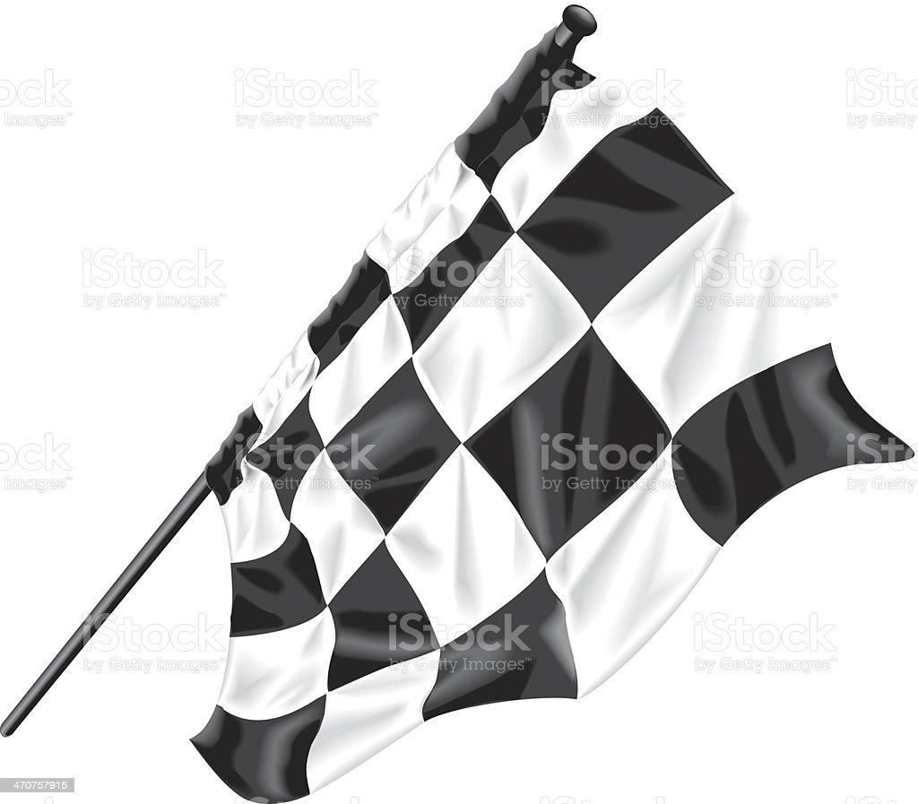 Checkered Flag vector art illustration