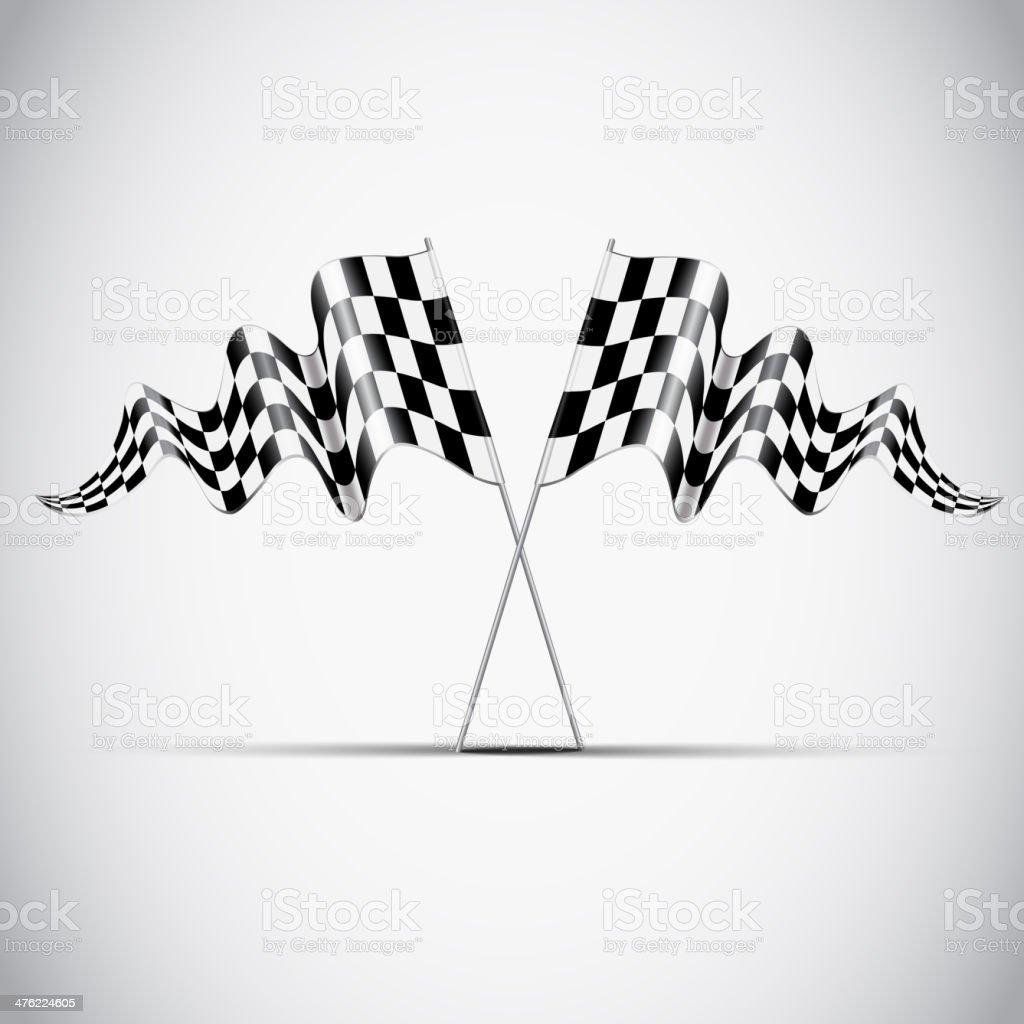 Checkered flag. Vector royalty-free stock vector art
