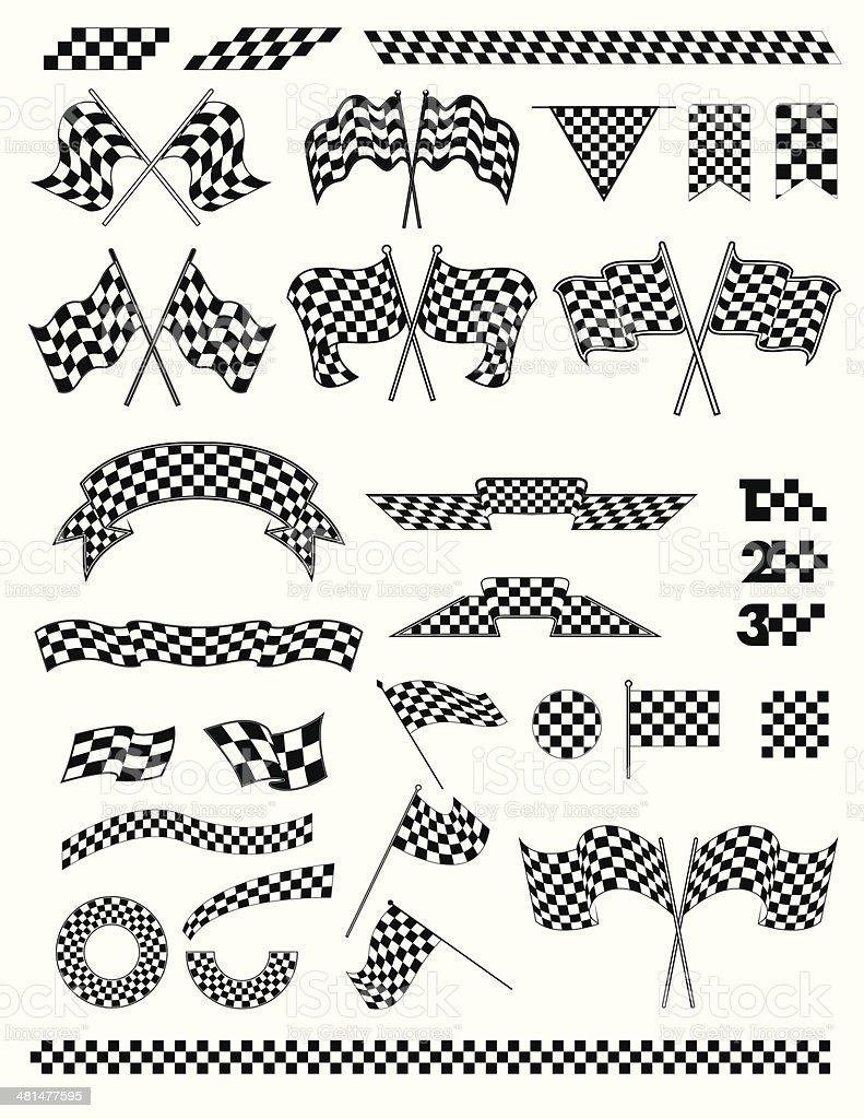 checkered flag vector vector art illustration