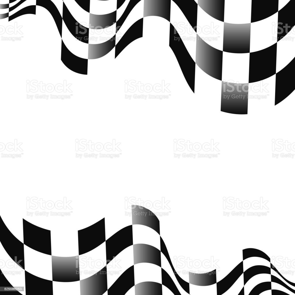 Checkered flags background with space for text vector art illustration