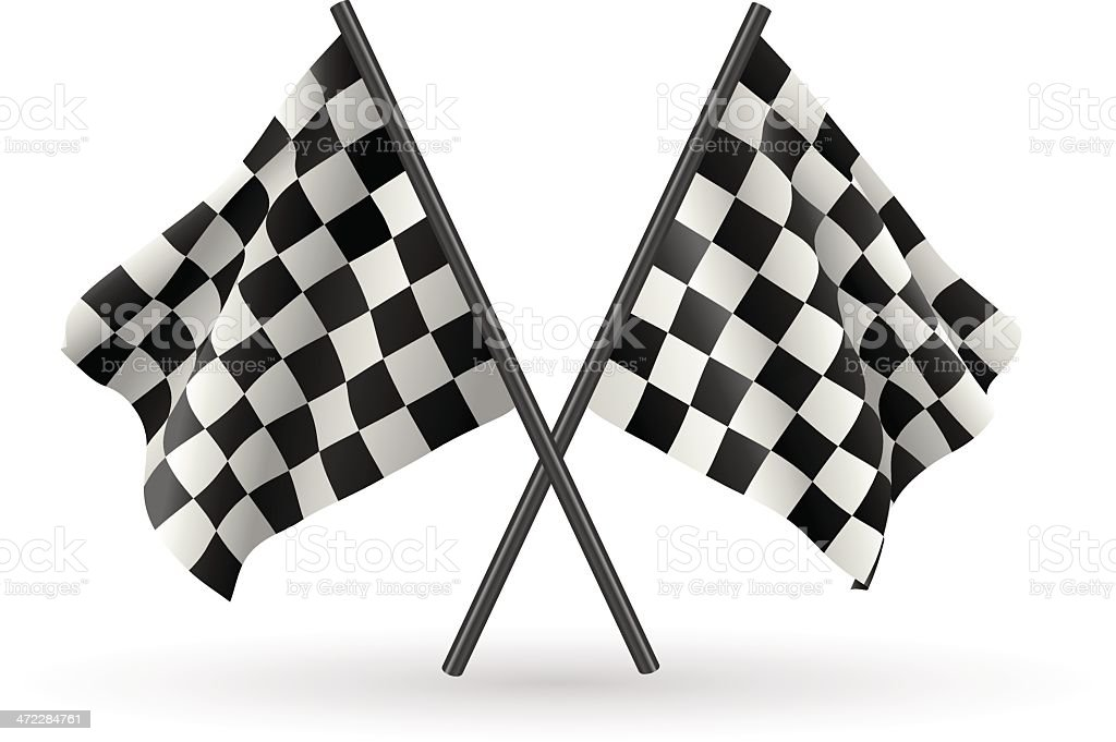 Checkered Flags vector art illustration