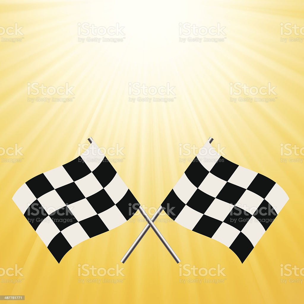 checkered flags royalty-free stock vector art
