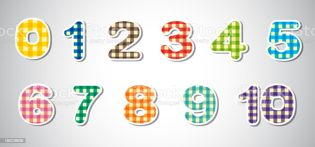 Checkered numerical figures royalty-free stock vector art