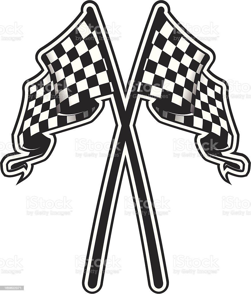checkered race flag royalty-free stock vector art