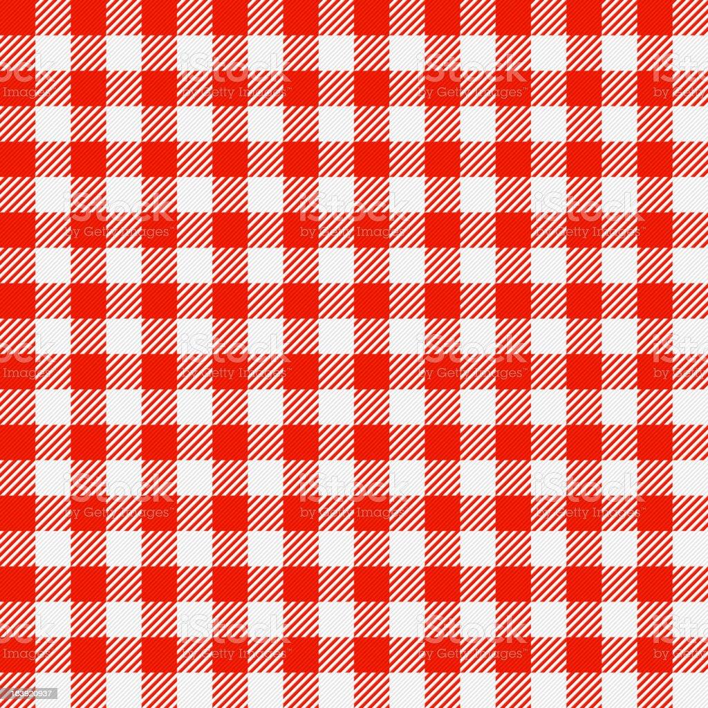 Checkered tablecloth vector art illustration