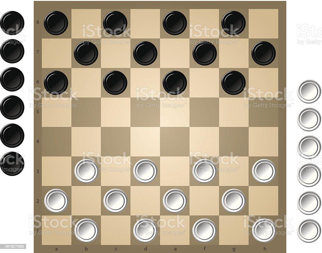 Checkers royalty-free stock vector art