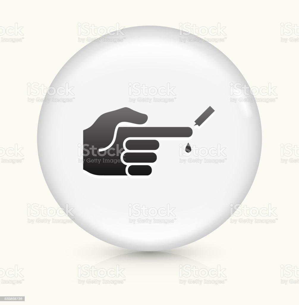 Checking Glucose Levels icon on white round vector button vector art illustration