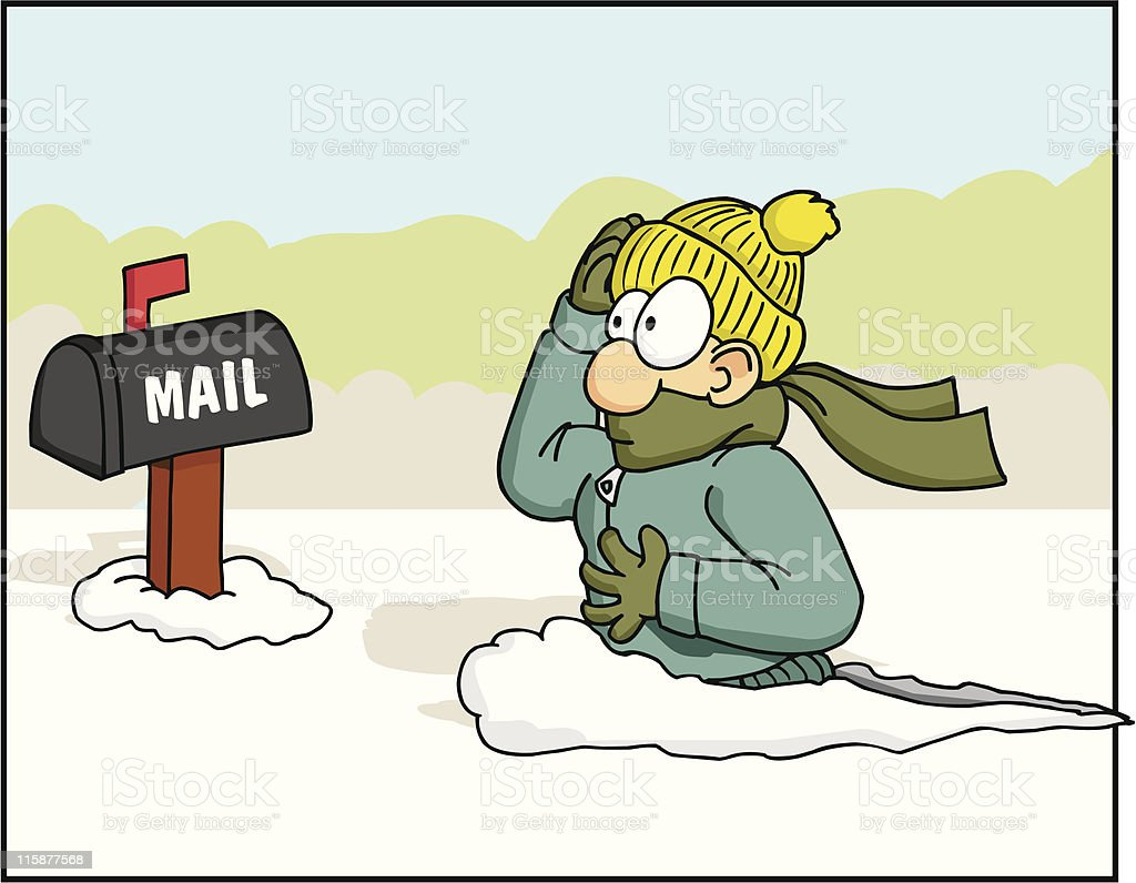Checking the Mail 1 royalty-free stock vector art