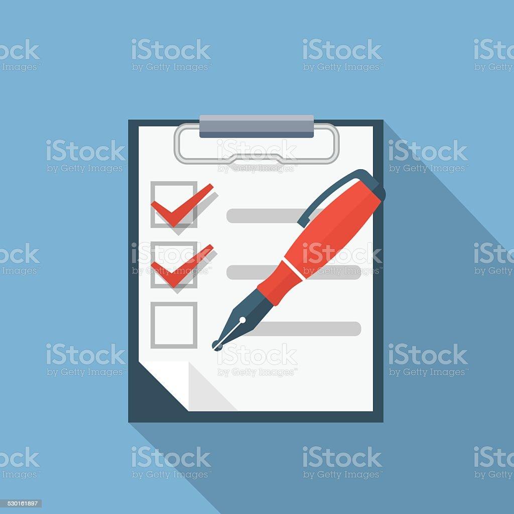 Checklist Flat Illustration vector art illustration