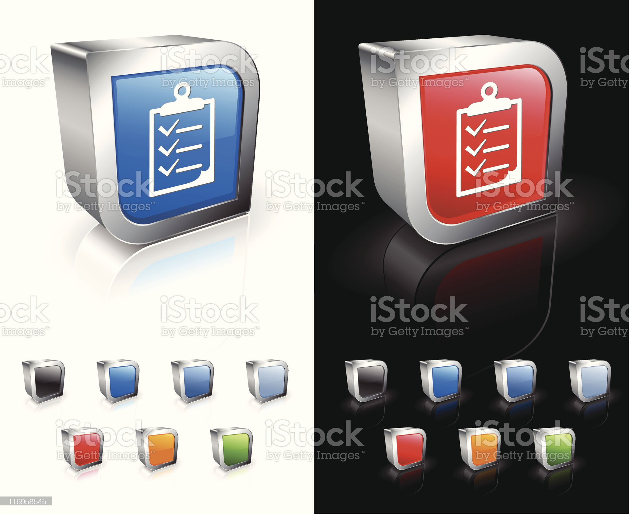 Checklist on clipboard 3D royalty free vector art royalty-free stock vector art