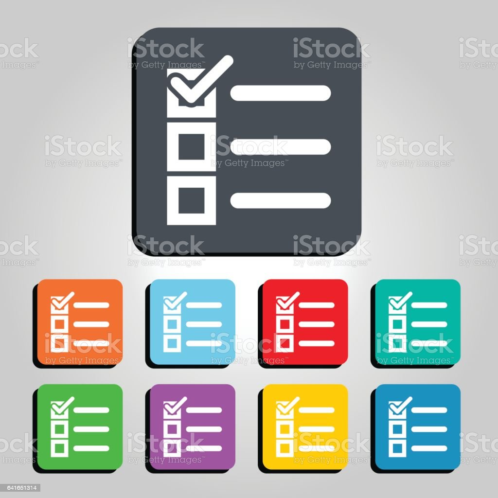 Checklist Vector Icon Illustration vector art illustration