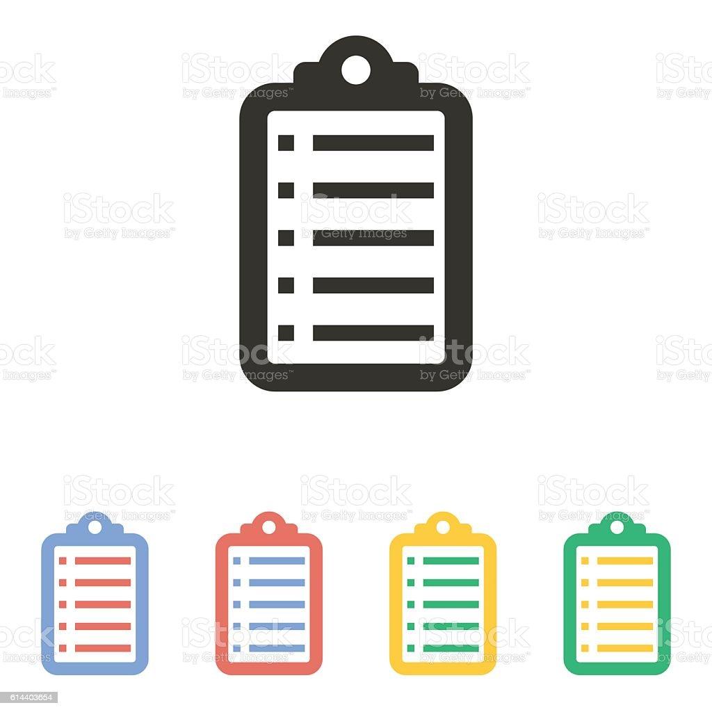 Checklist - vector icon. vector art illustration