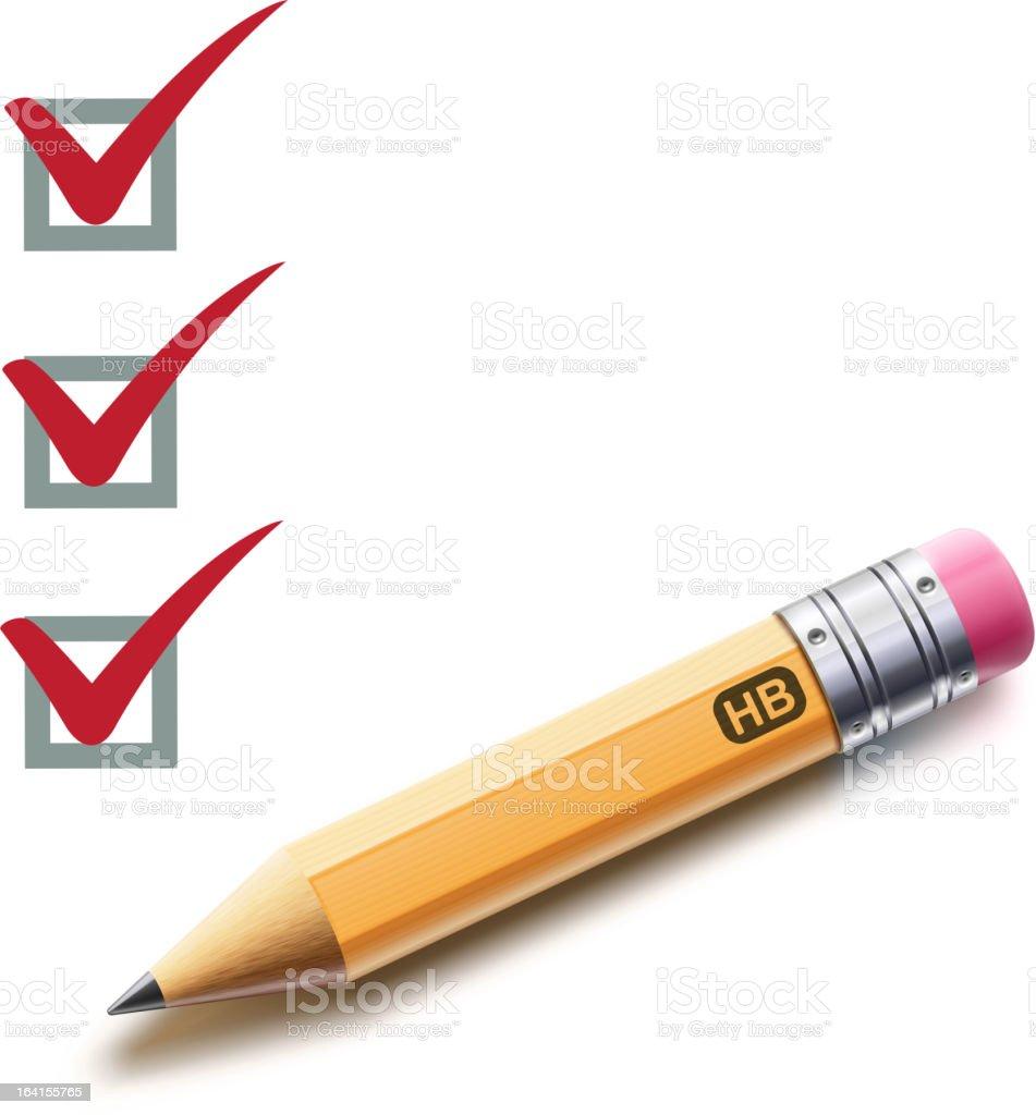 checklist royalty-free stock vector art