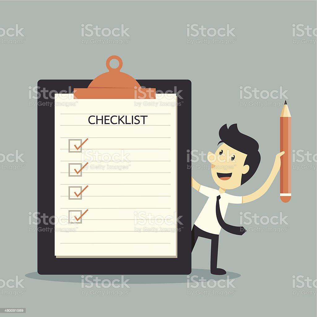 Checklist vector art illustration