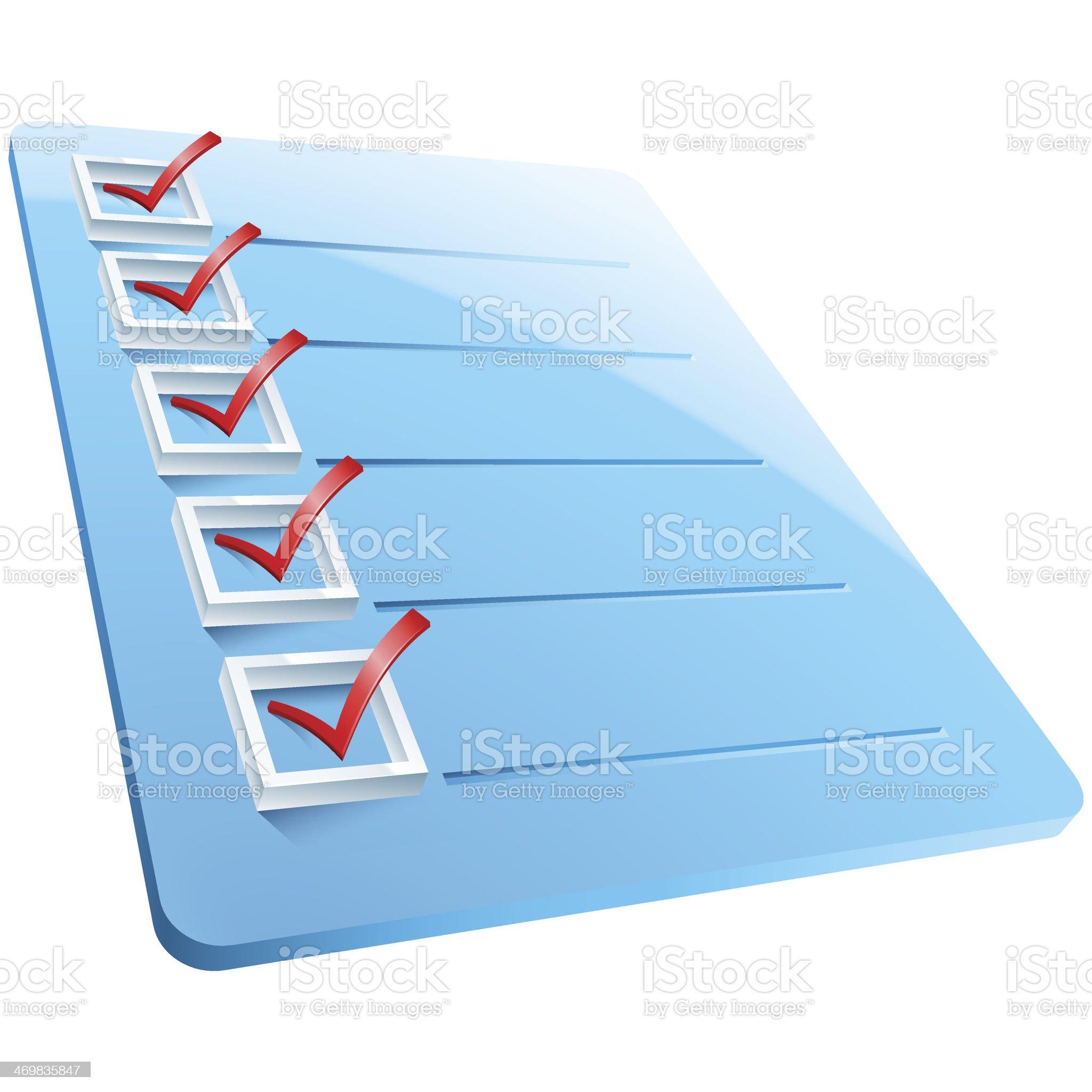 Checkmarks Board royalty-free stock vector art