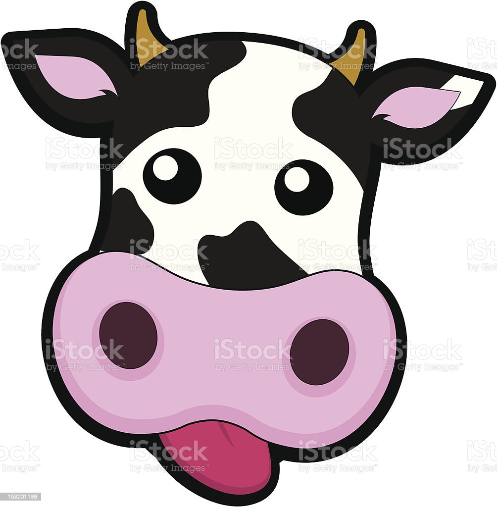 Cheeky Cow Head royalty-free stock vector art