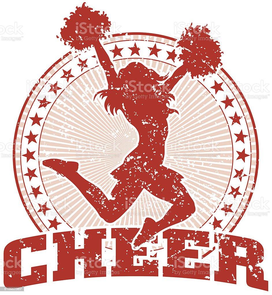 Cheer Design - Vintage vector art illustration