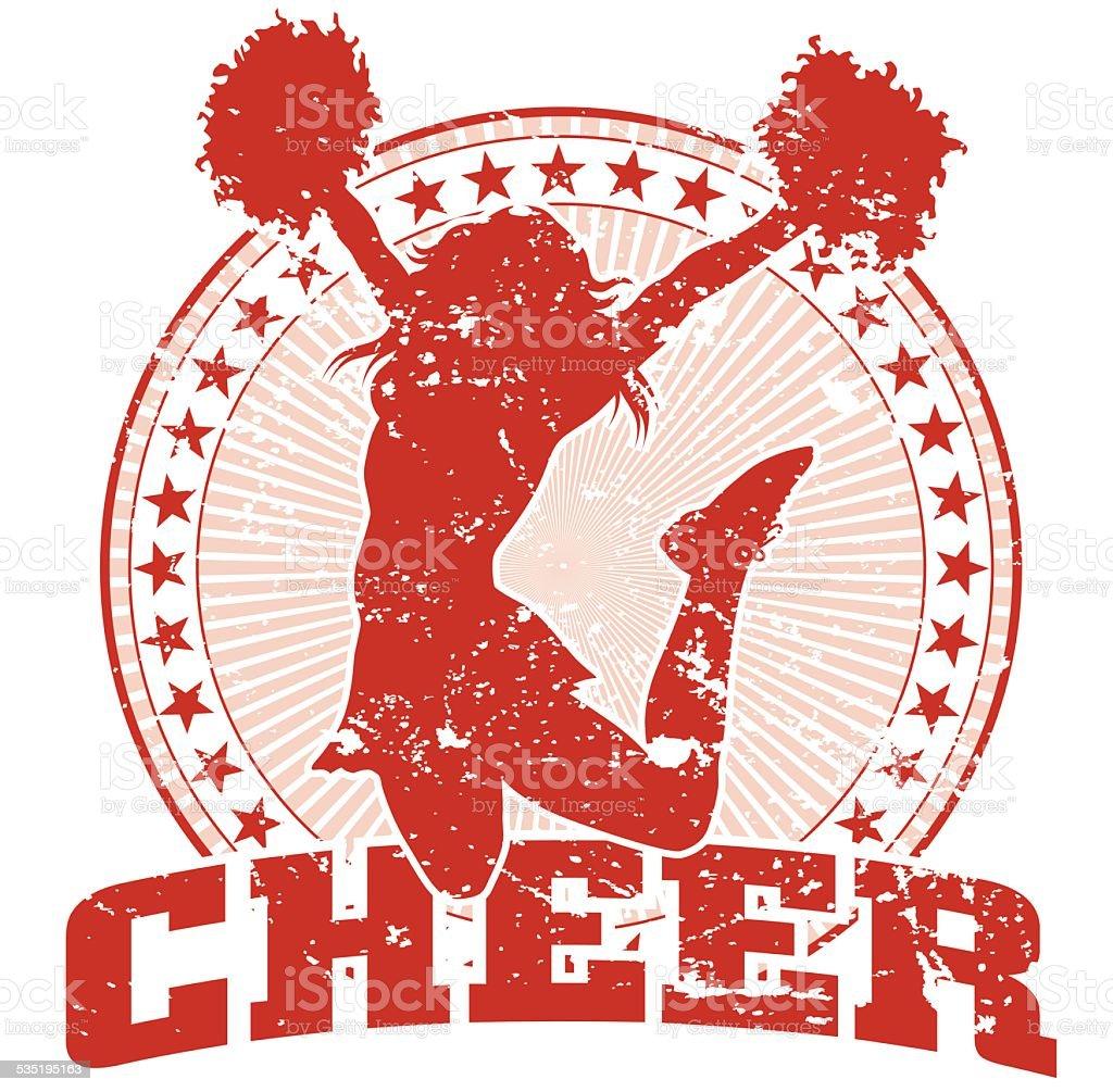 Cheer Jump Design - Vintage vector art illustration