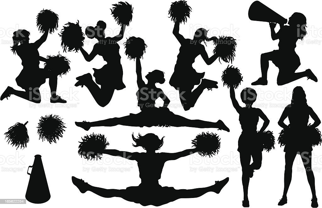 Cheer Silhouettes vector art illustration