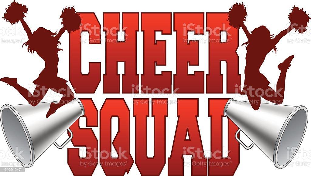 Cheer Squad vector art illustration