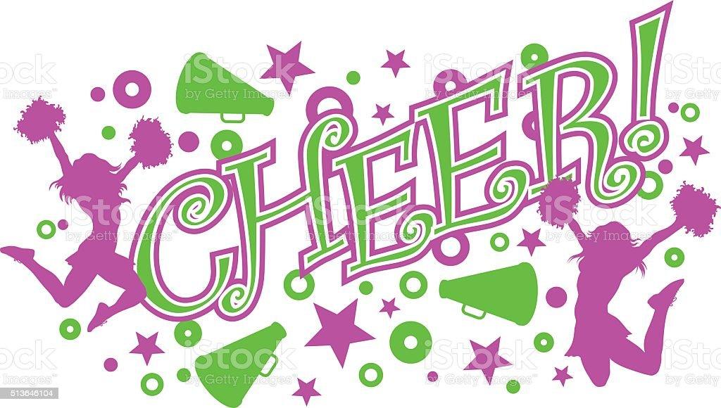 Cheer vector art illustration