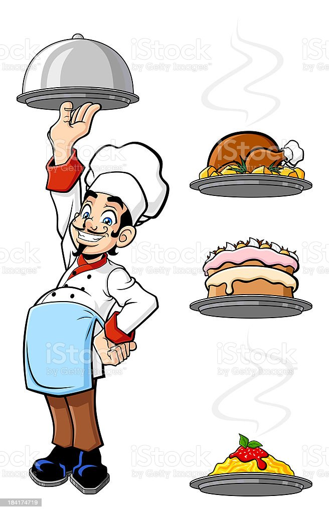 Cheerful chef royalty-free stock vector art