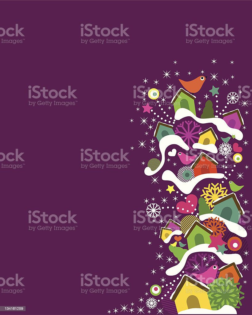Cheerful Christmas royalty-free stock vector art