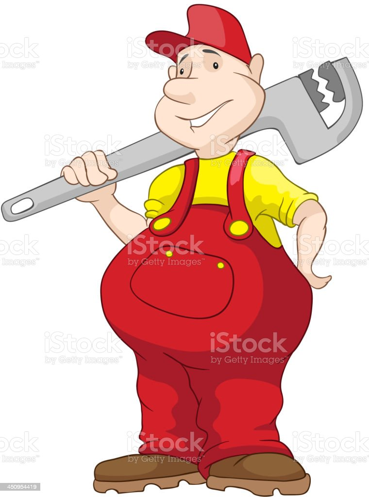 Cheerful Chubby Men royalty-free stock vector art