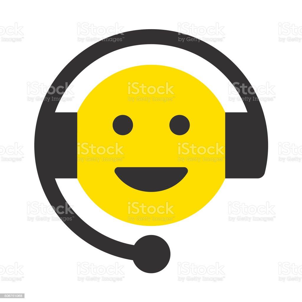 Cheerful Customer Service Representative vector art illustration