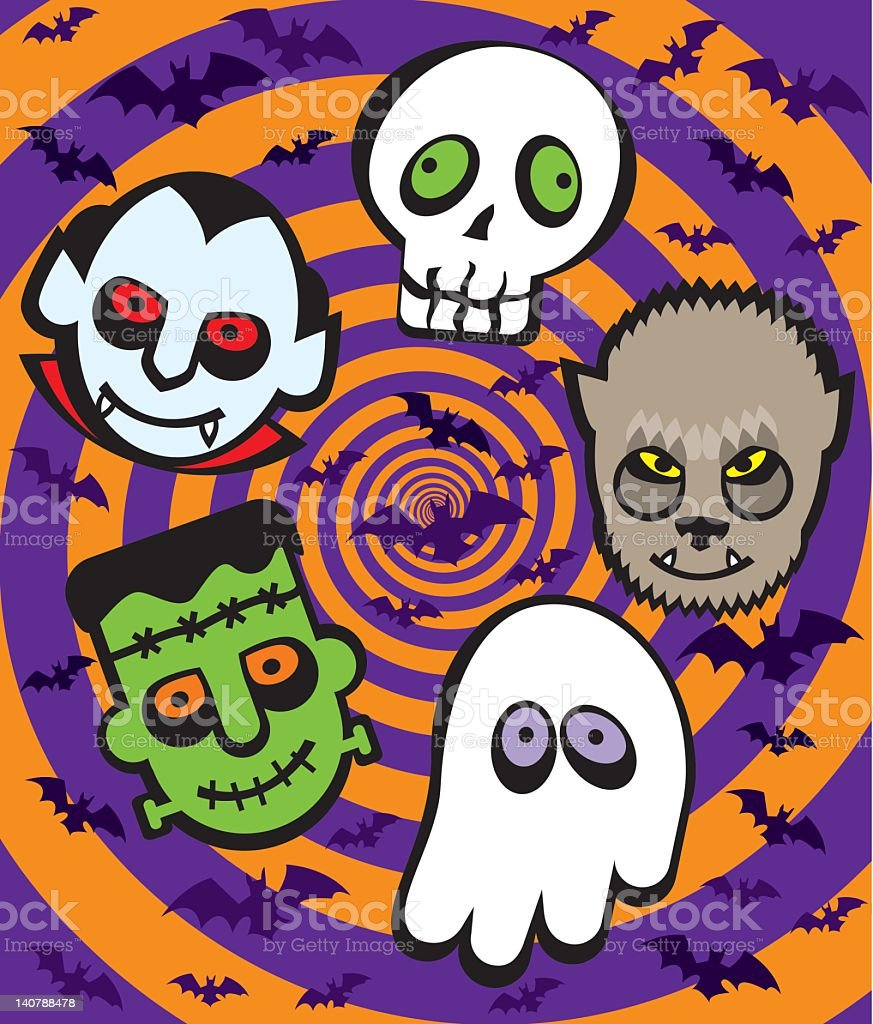 Cheerful Monsters royalty-free stock vector art