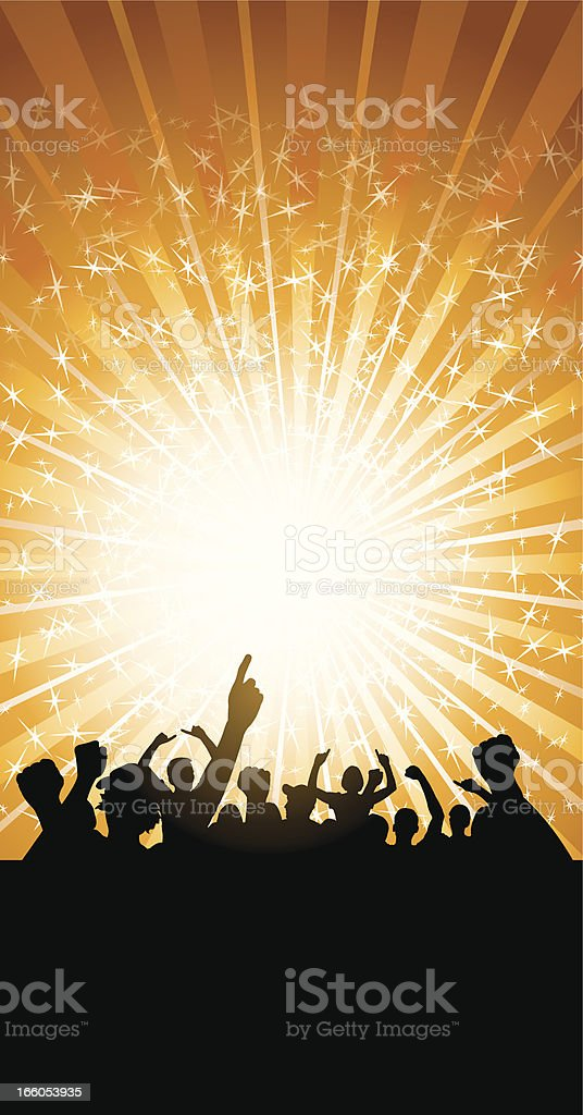 Cheering Crowd Background royalty-free stock vector art