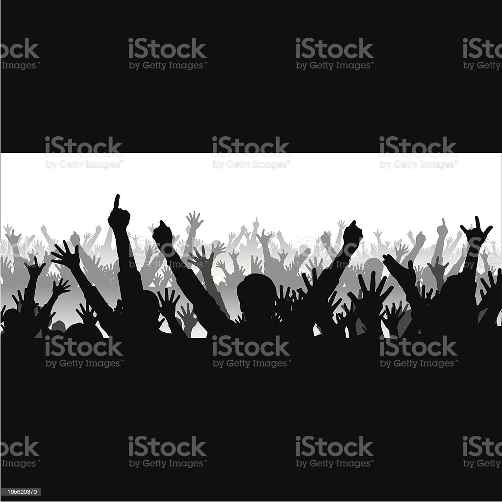 Cheering Crowd royalty-free stock vector art