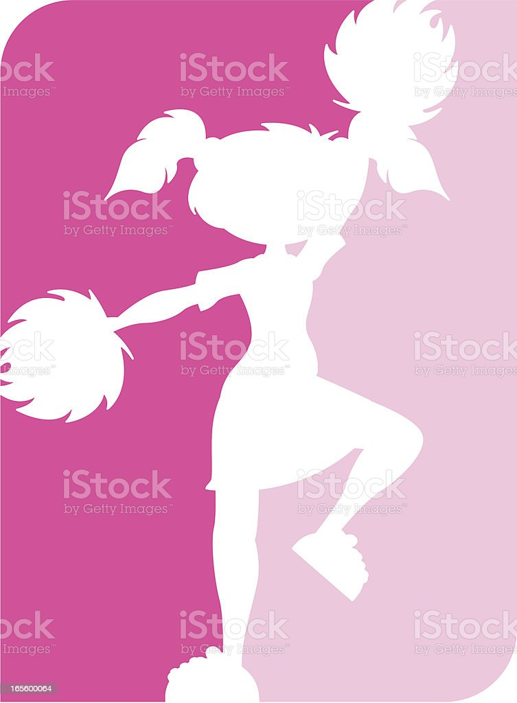 Cheerleader Silhouette Icon royalty-free stock vector art