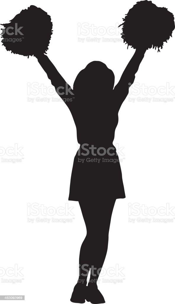 Cheerleader silhouette vector art illustration