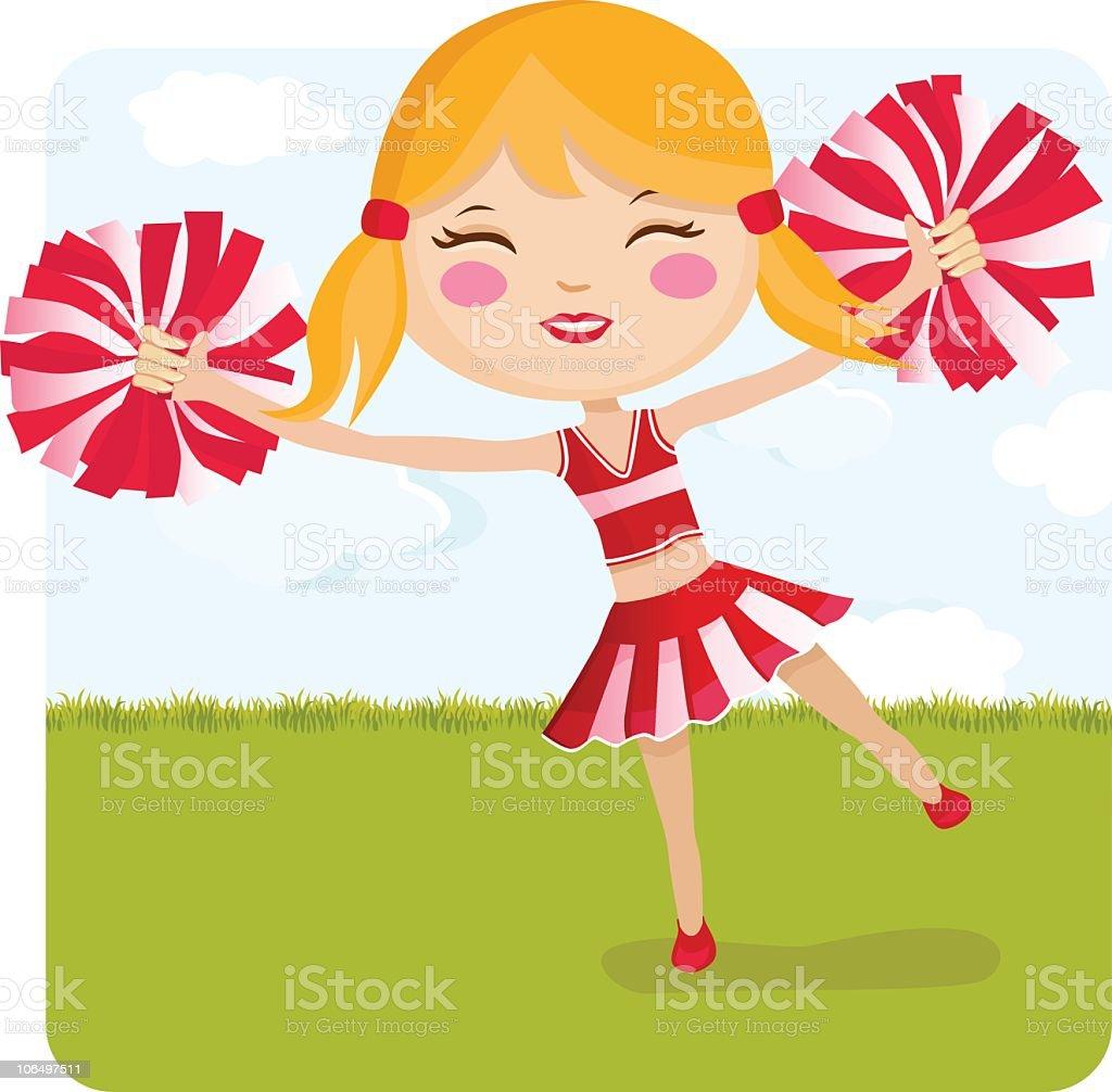Cheerleader royalty-free stock vector art