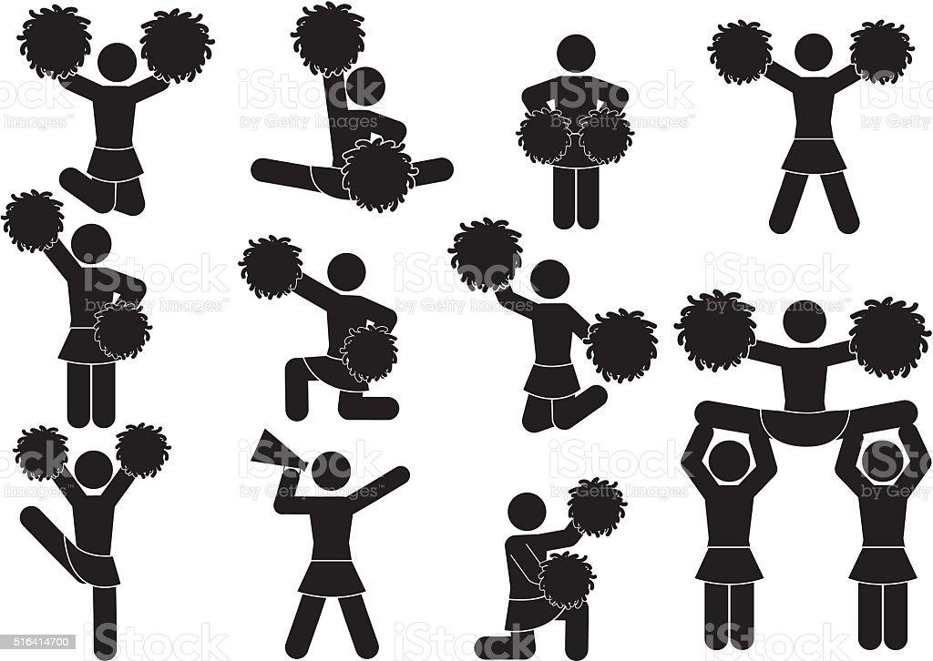 cheerleader vector art illustration