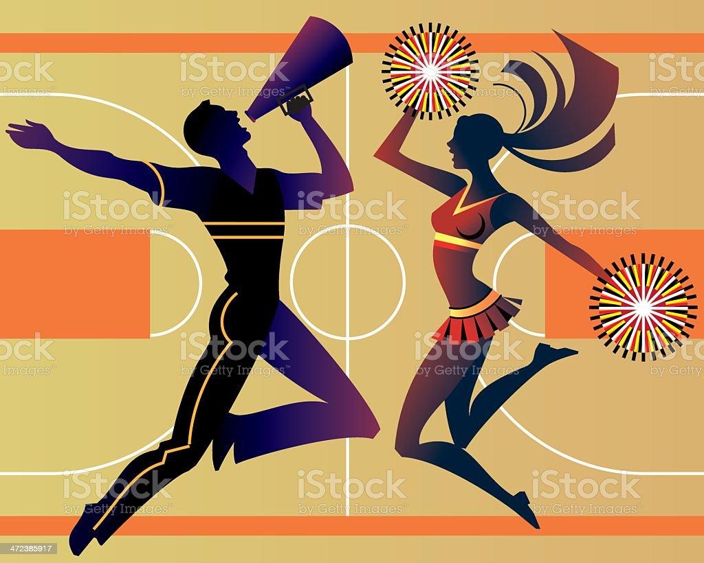 Cheerleaders C vector art illustration
