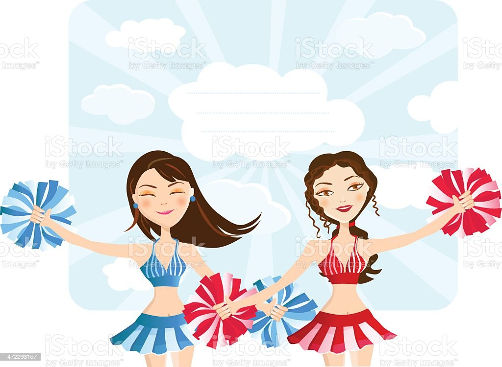 Cheerleaders royalty-free stock vector art