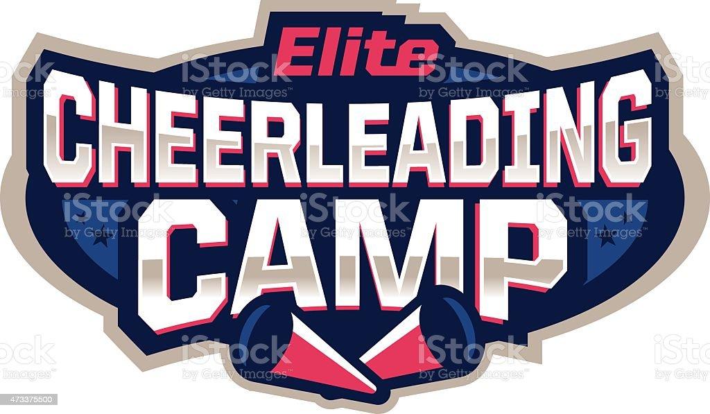 Cheerleading Camp Icon vector art illustration
