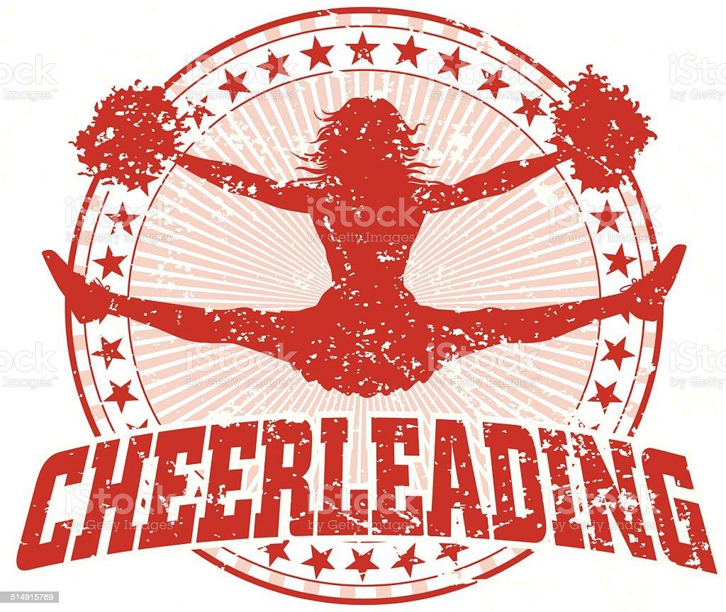 Cheerleading Design - Vintage vector art illustration