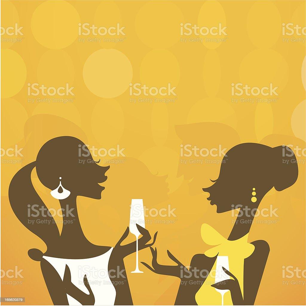 Cheers Darling royalty-free stock vector art