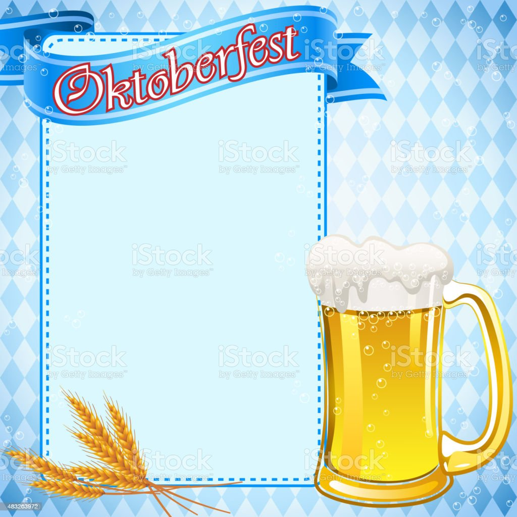 Cheers for Oktoberfest vector art illustration