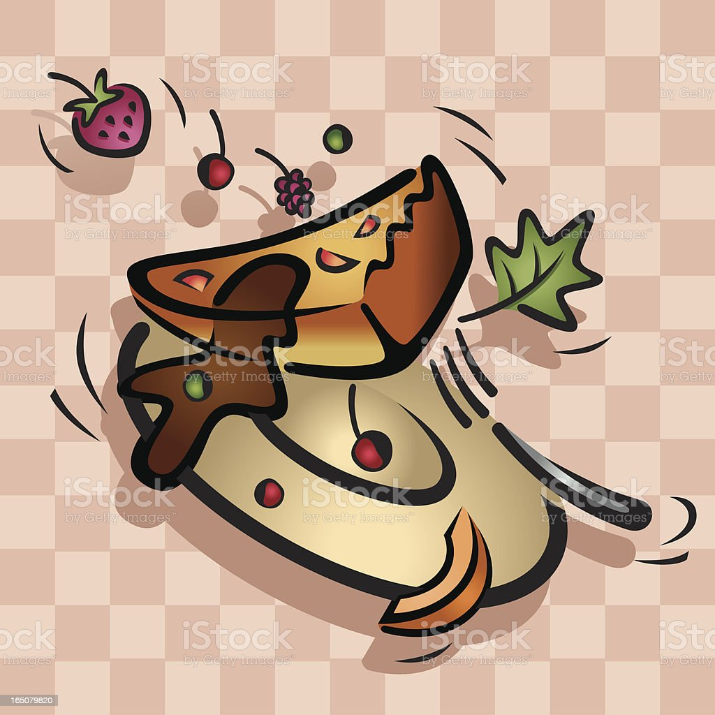 Cheese Cake Dessert in Mid Air Vector royalty-free stock vector art