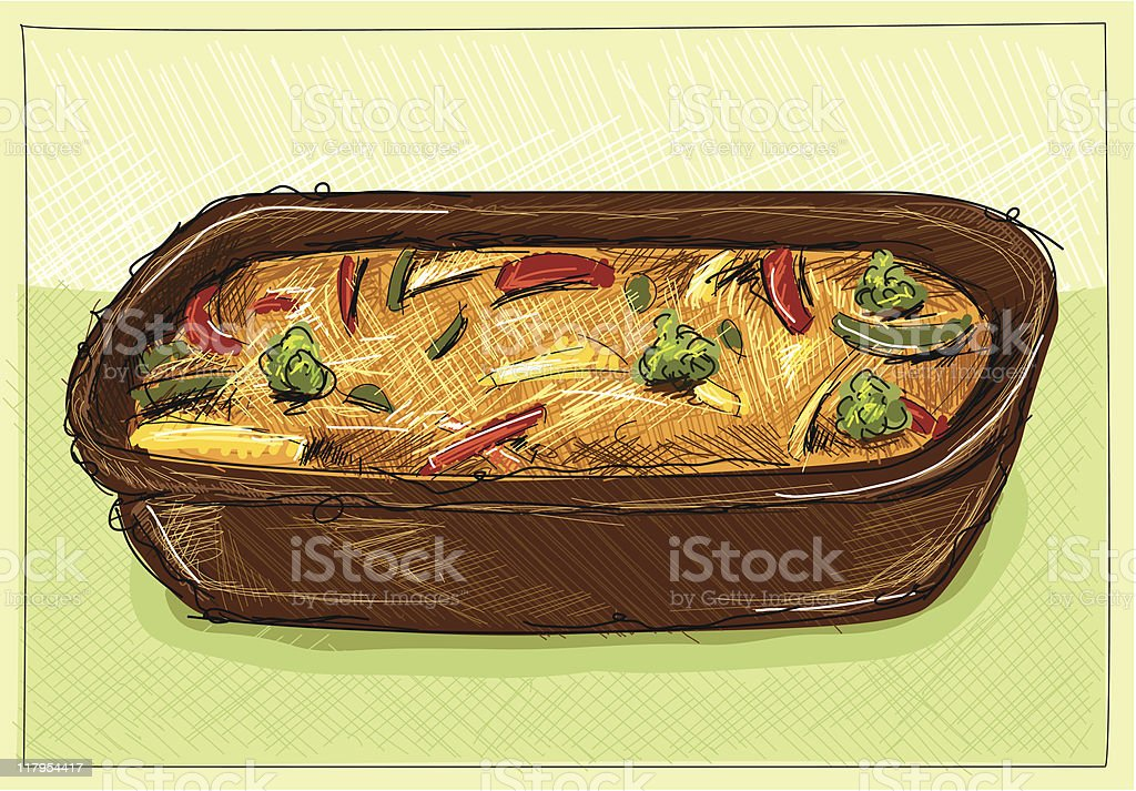 cheese gratin royalty-free stock vector art