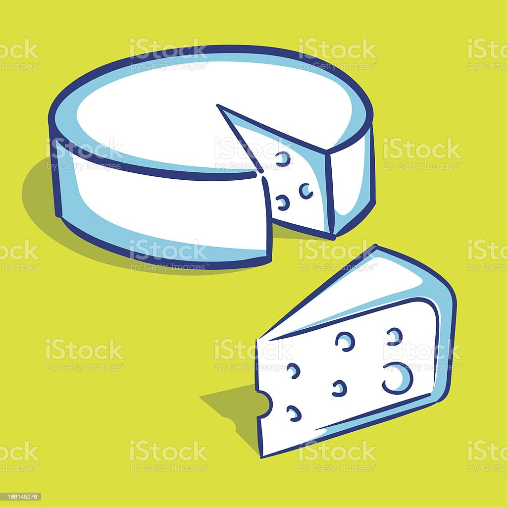 Cheese Hand Drawing royalty-free stock vector art