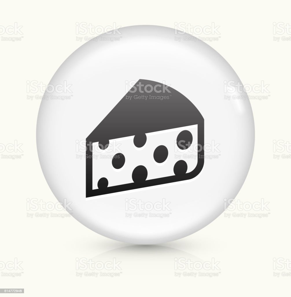 Cheese icon on white round vector button vector art illustration